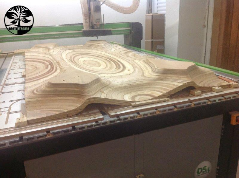 Usinagem 3d router cnc
